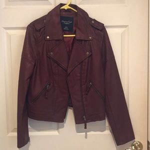 American Eagle Red Leather Jacket